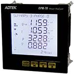 CPM-72 | ADTEK | LCD Power Meter 2nd~31st Individual Harmonics with 4 DI 2 RO, RS485.2MB Auto Wiring correction
