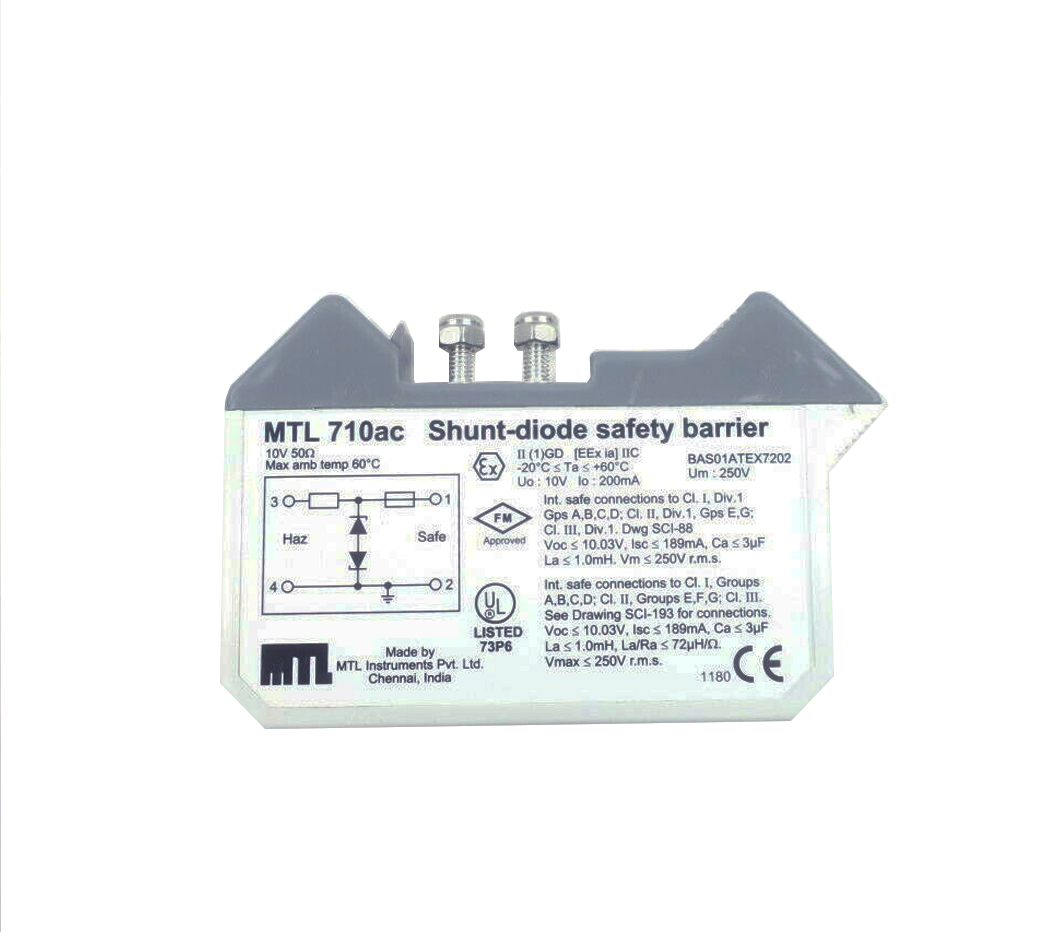 MTL710AC | MTL710ACMSA | MTL Instruments | Shunt-diode Safety Barrier (Stop Production. New Replacement : MTL7710+ MTL700  Barrier)