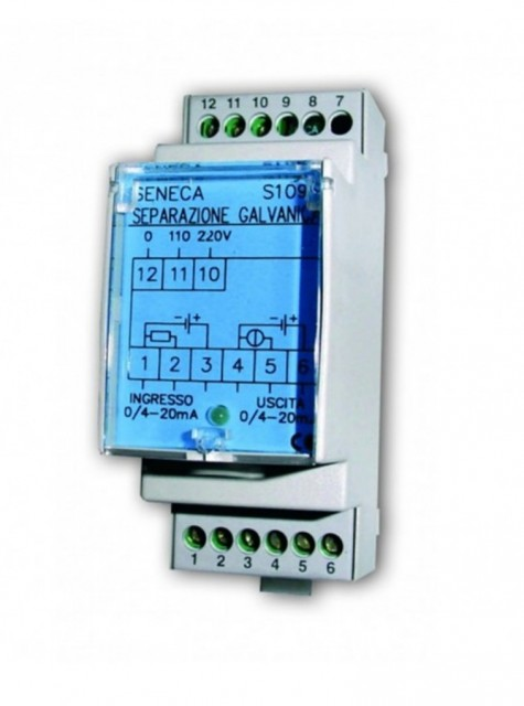 S109S-1-ST| Seneca |Galvanic isolator for 4-20 mA current loop, 115 / 230 Vac