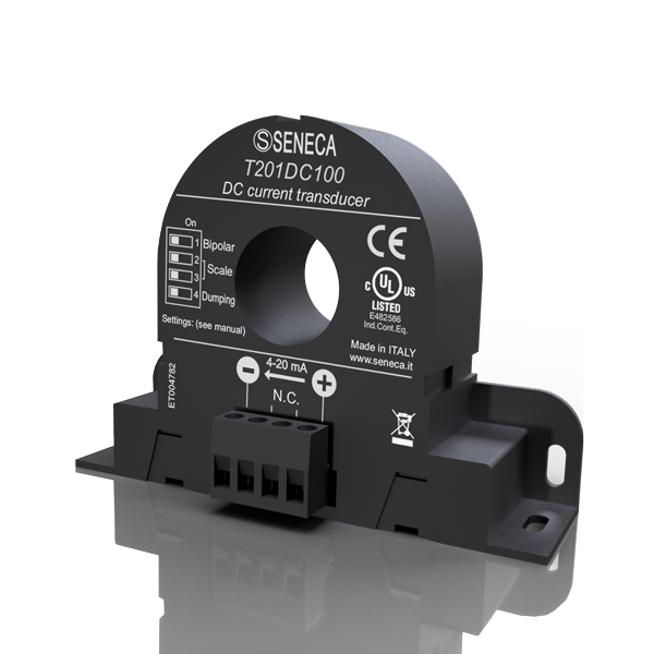 T201DC100| Seneca |Passive current transducer 100 Adc for 4..20 mA current loop