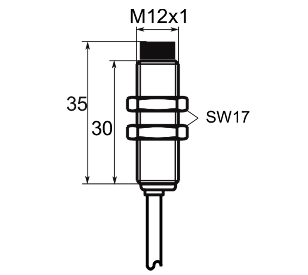 A01EG124 | Selet Sensor | CILINDRICAL TYPE 12 mm DIAMETER