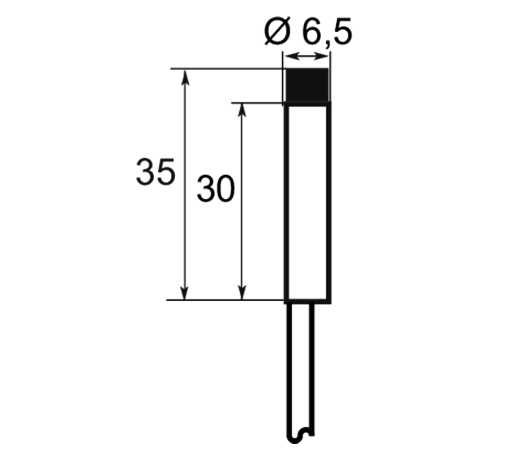 A01EG6,52 | Selet Sensor | CILINDRICAL TYPE 6.5 mm DIAMETER