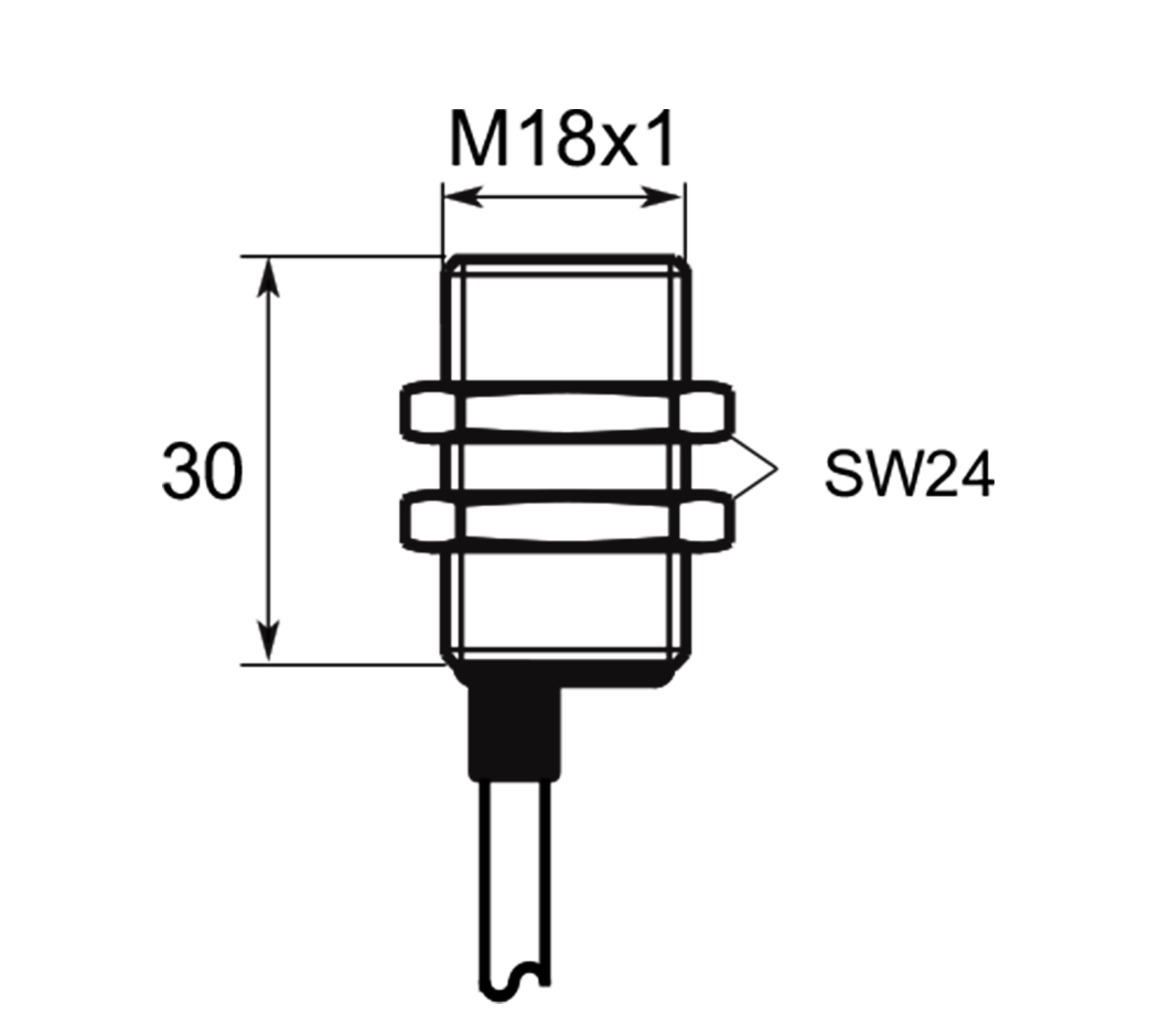 A01G185 | Selet Sensor | CILINDRICAL TYPE 18 mm DIAMETER