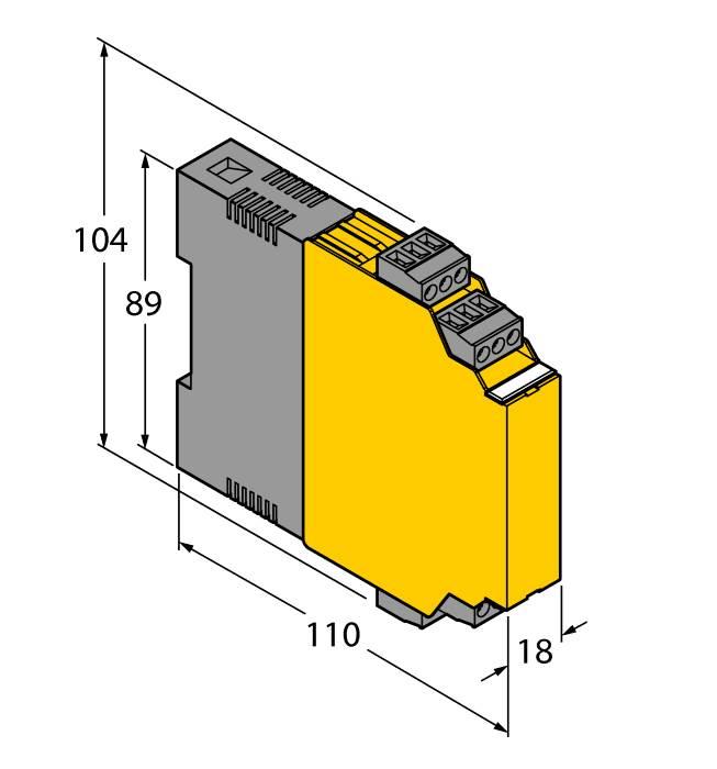 Temperature measuring amplifier 1-channel IM34-11EX-CI/K60 on