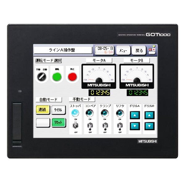 GT1665M-VTBD | Mitsubishi Electric | GT1000 HMI Touch Panel