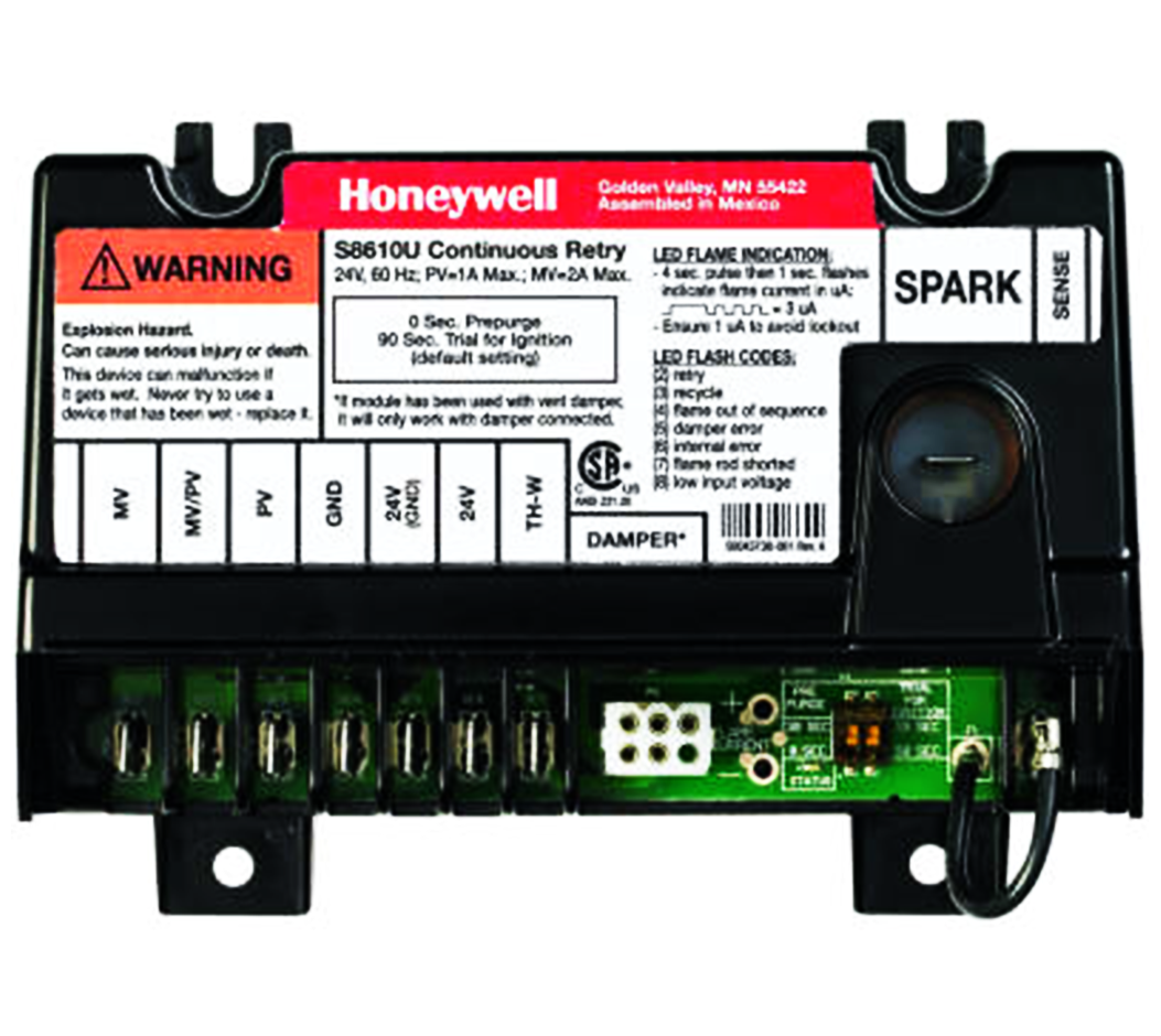 S8610U3009/U   Honeywell   CONTINUOUS RETRY WITH 100% SHUTOFF; FIELD  SELECTABLE OPERATING