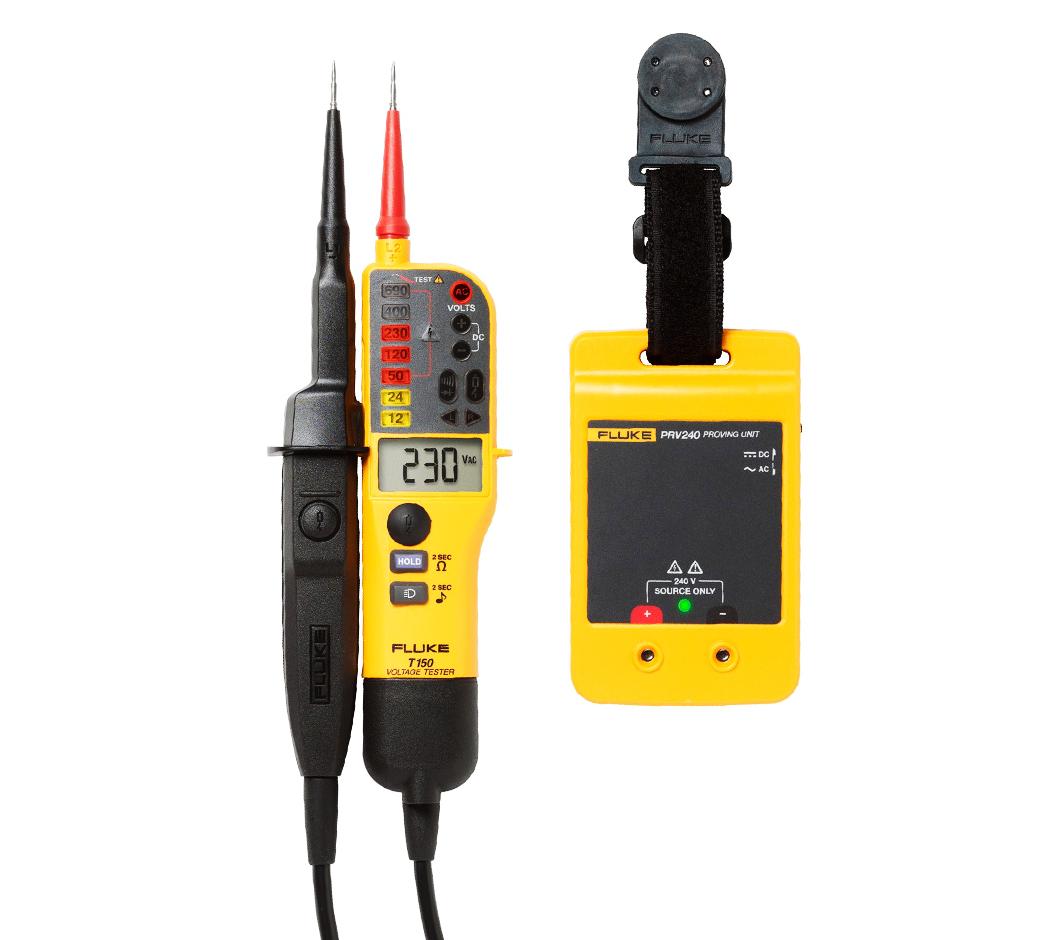Fluke T150 Voltage And Continuity Testers Prv240 Proving Unit Dc Or Ac Indicator