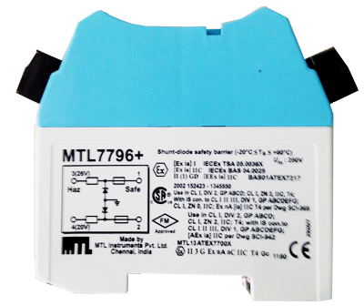 MTL7796+ MTL Intrinsically Safe Zener Barriers
