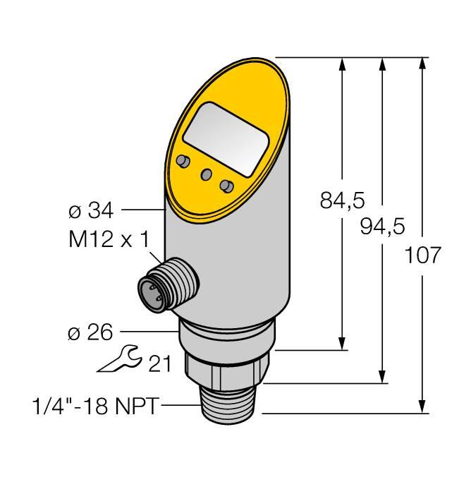 PS001R-303-2UPN8X-H1141 | TURCK Pressure sensor 2 PNP/NPN transistor ...