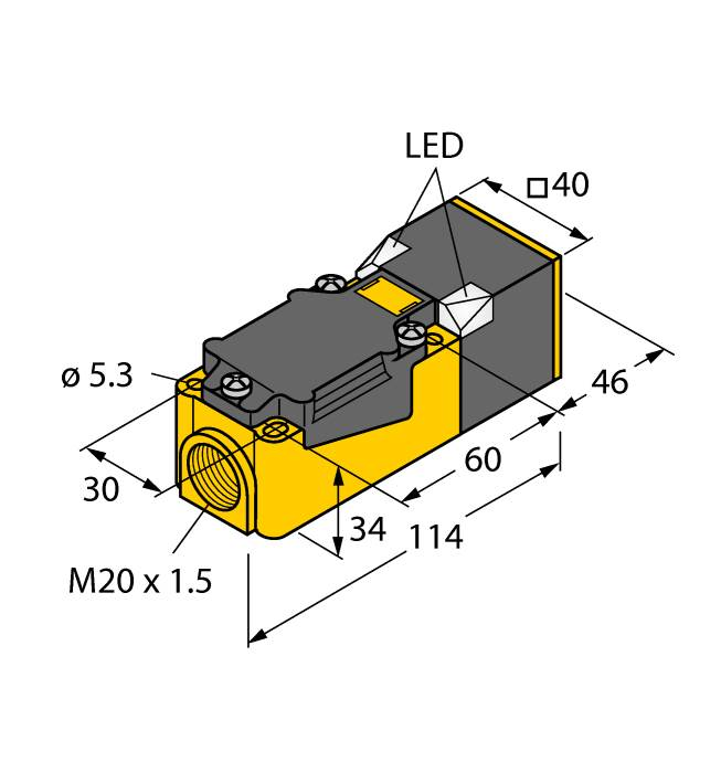 BI15-CP40-VP4X2/S97| TURCK | Inductive sensor With extended ...